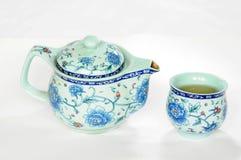Teaset chinois de poterie Images libres de droits