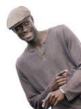 Teasing. Black young smiling man mocking Royalty Free Stock Image