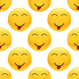 Teasing emoticon pattern Stock Photo