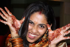 Teasing Indian Lady Royalty Free Stock Photo
