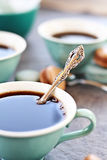 Teaspoon and Coffee Royalty Free Stock Photos