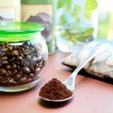 Teaspoon full of coffee Stock Image