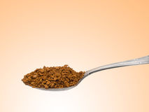 Teaspoon with granulated instant coffee Stock Photos