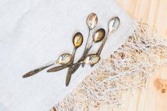 teaspoons Fotografia Stock Libera da Diritti