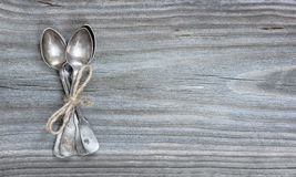 Teaspoons on the board Stock Image