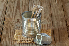 Teaspoons collection Stock Photography