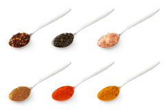 Teaspoons with flavouring Stock Image