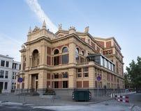 Teater av den holländska staden groningen i Nederländerna med blå himmel Arkivfoto