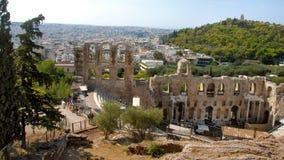 Teater av Dionysus Eleuthereus, Athene, Grekland royaltyfri fotografi