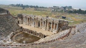 Teater av Hierapolis den forntida staden arkivfoton
