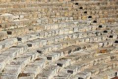Teater av Kourion, Cypern Arkivbilder
