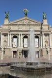 Teater av operan och balett Lviv Fotografering för Bildbyråer