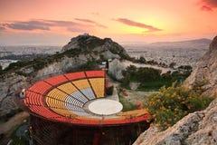 Teater för öppen luft, Aten Royaltyfri Fotografi
