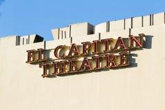 Teater för El Capitan arkivbild