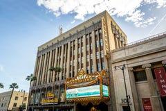 Teater för El Capitan i den Hollywood boulevarden - Los Angeles, Kalifornien, USA royaltyfri bild