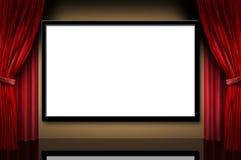 teater för etapp för öppning för natt för bioskärmfilmer Arkivfoto