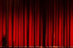 teater för etapp för show för begreppsgardinpresentation röd Royaltyfri Bild