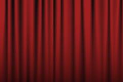 teater för etapp för show för begreppsgardinpresentation röd Arkivbild