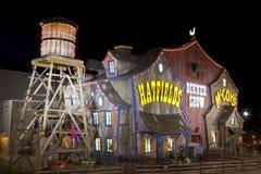 Teater för Hatfield & McCoy matställeshow i Pigeon Forge, Tennessee Arkivfoton