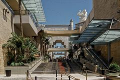 Teater för köpcentrum för Hollywood blvdingång arkivfoton