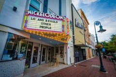 Teater i i stadens centrum Columbia, South Carolina Royaltyfri Fotografi