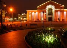 Teater på natten royaltyfri fotografi