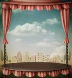 teater två royaltyfri illustrationer