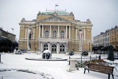 Teaterbyggnaden i Rijeka, Kroatien Royaltyfria Bilder