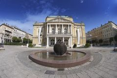 Teaterbyggnaden i Rijeka, Kroatien Royaltyfria Foton