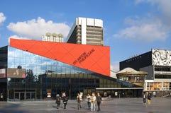 Teaterkorridorer Haag under rivninghammaren Arkivbild