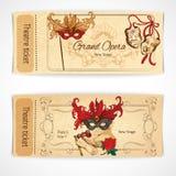 Teatern skissar biljetter Royaltyfri Bild