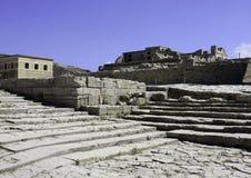 Teatertrappa i Knossos, Kreta Royaltyfri Fotografi
