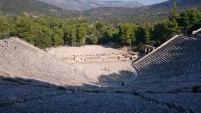 The teather of Epidauros. The famous teather of Epidauros with the great acoustics Stock Photos