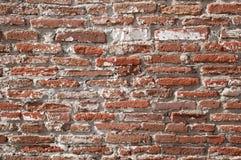 Teathered brick wall stock image