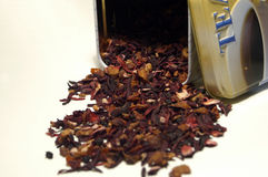 Teatime. It´s a pic of selfmade tea, I putt the focus of the taa in front of the box Royalty Free Stock Images