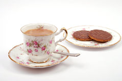 Teatime avec des biscuits Photo stock