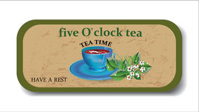 Teatime background,banner, poster , icon.  Royalty Free Stock Photography