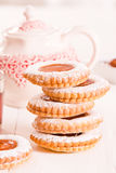 Teatime biscuits. royalty free stock image