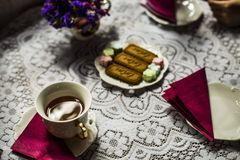 teatime in coffee shop Stock Photo