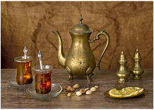 Teatime in the Eastern traditions Stock Images