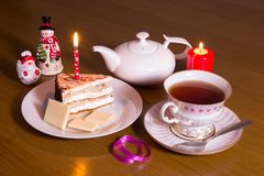 Teatime in the evening Stock Image