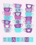 Teatime-Plakat Stockfoto