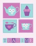 Teatime-Plakat Lizenzfreies Stockfoto