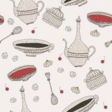 Teatime sweets pattern Royalty Free Stock Photo