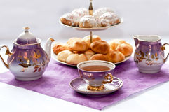 Teatime. Table laid for tea party Royalty Free Stock Image