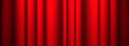 Teatr czerwona zasłona Ilustracji