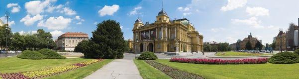 teatr narodowy chorwackiego Zdjęcie Royalty Free