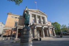 Teatr Narodowy Nationaltheatret w Oslo, Norwegia fotografia royalty free