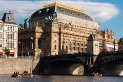 teatr Prague krajowej Fotografia Stock