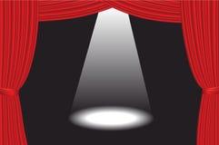 Teatr scena Z światłem reflektorów Fotografia Royalty Free